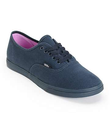 Vans Authentic Lo Pro Monotone Total Eclipse Shoes (Womens)