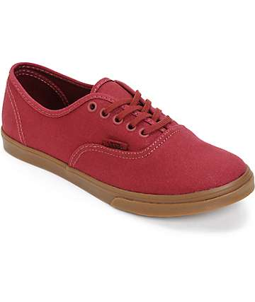 Vans Authentic Lo Pro Oxblood Shoes (Womens)