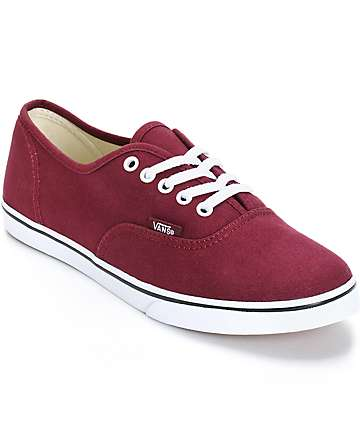 Vans Authentic Lo Pro Windsor Wine Shoes (Womens)