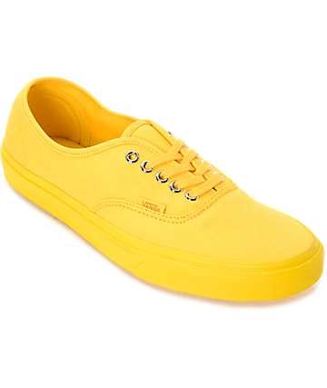 Vans Authentic Mono zapatos de skate en color amarillo