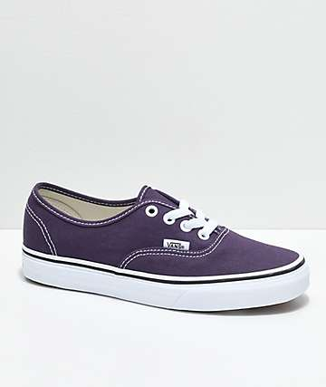 Vans Authentic Nightshade & White Skate Shoes
