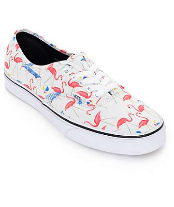 Vans Authentic Pool Vibes White Skate Shoes (Mens)