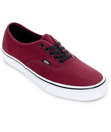 Vans Authentic Port Royale and Black Skate Shoes (Mens)