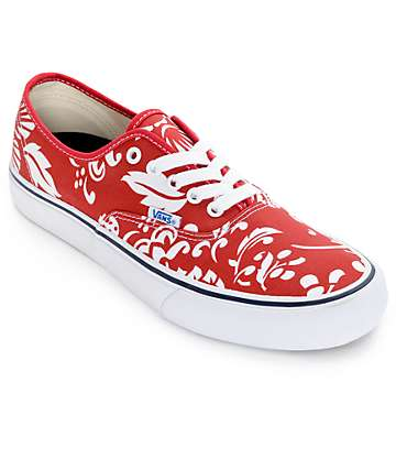 Vans Authentic Pro 50th Duke Red and White Skate Shoes (Mens)
