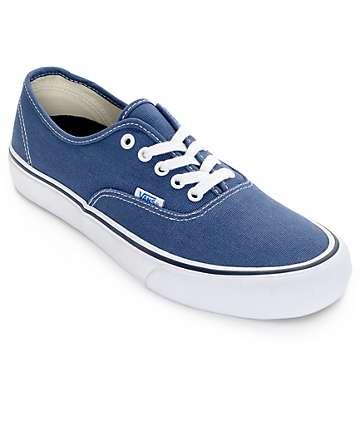 Vans Authentic Pro 50th zapatos azules de skate (hombre)