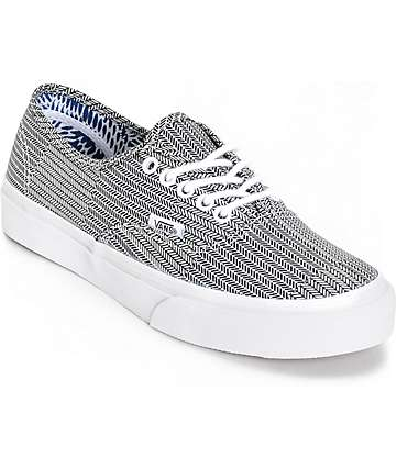 Vans Authentic Slim Mixed Geo Print Shoes (Womens)
