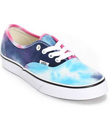 Vans Authentic Tie Dye Shoes (Womens)