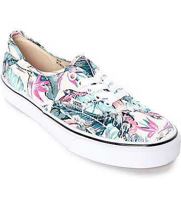 Vans Authentic Tropical True White Shoes (Womens)