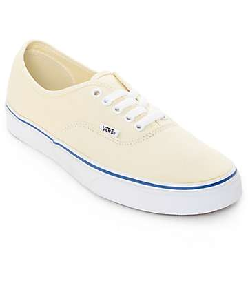 Vans Authentic White Skate Shoes (Mens)