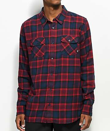 Vans Banfield Midnight Navy & Light Burgundy Flannel Shirt