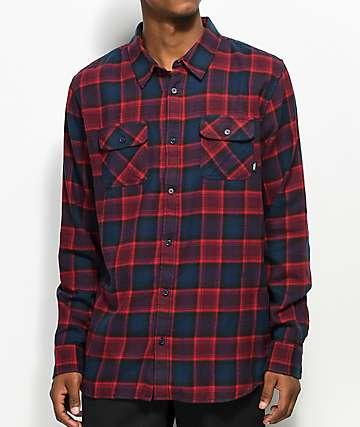 Vans Banfield Midnight Navy & Light Burgundy Flannel Shirt