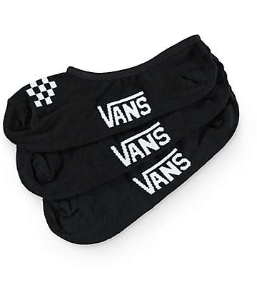 Vans Basic Canoodle Black No-Show Socks (Womens)
