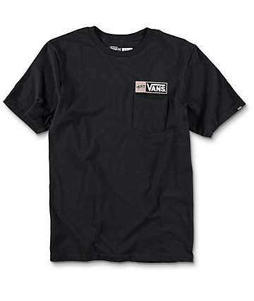 Vans Bayfront Boys Black Pocket T-Shirt