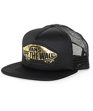 Vans Beach Girl 50th Black & Gold Trucker Hat