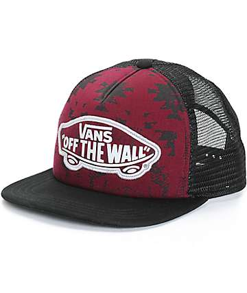 Vans Beach Girl Burgundy Tribal Trucker Hat