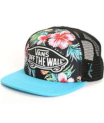 Vans Beach Girl Hawaiian Floral Trucker Hat