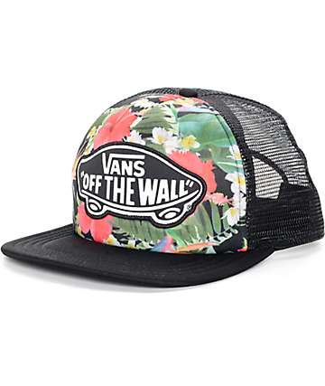Vans Beach Girl Tropical Multi Black Trucker Hat