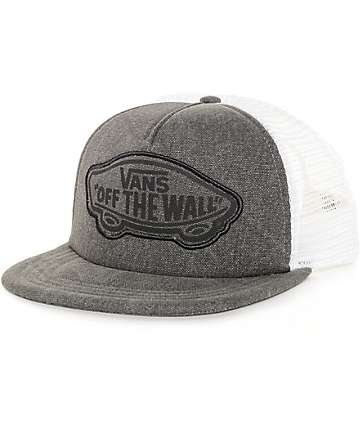 Vans Beach Girl Washed Black Trucker Hat