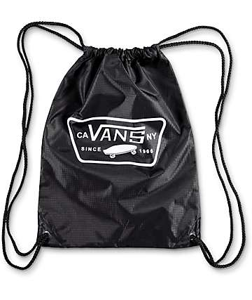 Vans Benched League Black & White Cinch Bag