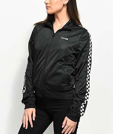 Vans Black & White Checker Track Jacket
