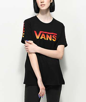 Vans Black Gradient Checker T-Shirt