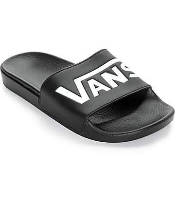 Vans Black Slide Sandals (Womens)