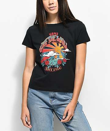 Vans Born To Roam Black T-Shirt