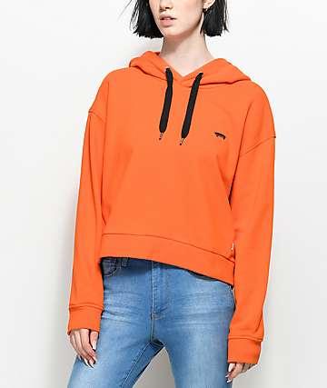 Vans Boulder Flame sudadera naranja con capucha