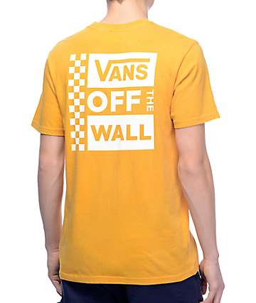 Vans Box Logo Mustard & White Pigment T-Shirt