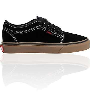 Vans Boys Chukka Low Black & Gum Shoes