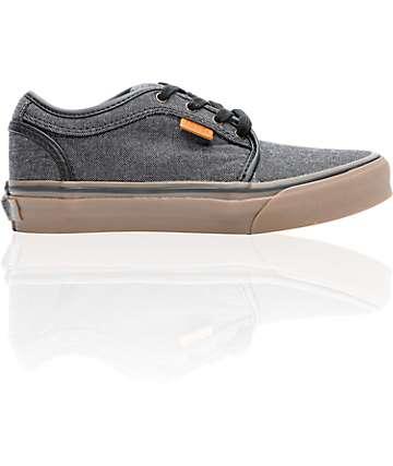 Vans Boys Chukka Low Oxford Canvas Black & Gum Shoes