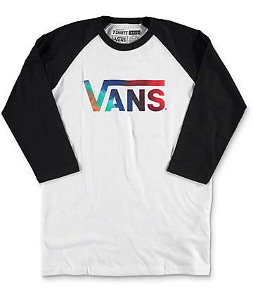 Vans Boys Classic White & Black Baseball T-Shirt