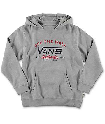 Vans Boys Culver Cement Grey Pullover Hoodie