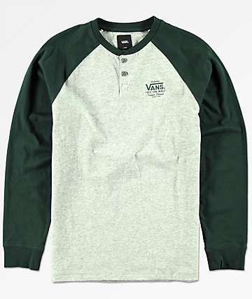 Vans Boys Denton Cement Heather Long Sleeve T-Shirt