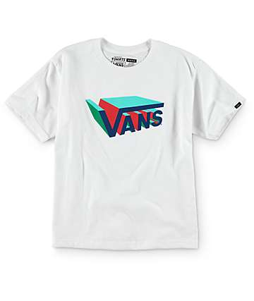 Vans Boys Drop V 3D White T-Shirt