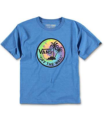 Vans Boys Dual Palm Heather Royal T-Shirt