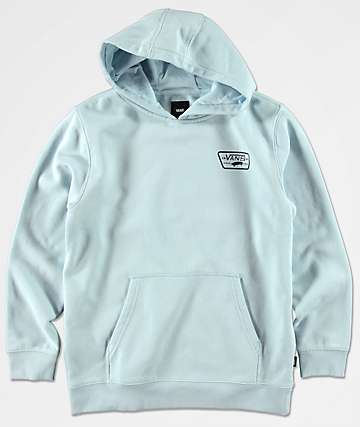 Vans Boys Full Patch Light Blue Hoodie