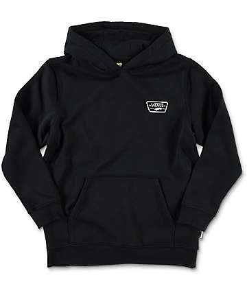 Vans Boys Full Patched Black Pullover Hoodie