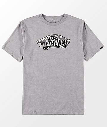Vans Boys OTW Logo Fill Heather Grey T-Shirt