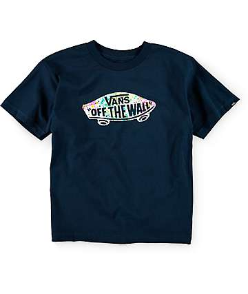 Vans Boys OTW Splatter Navy T-Shirt