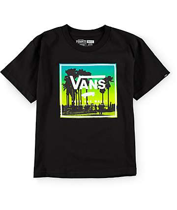 Vans Boys Palms Boxed Black T-Shirt