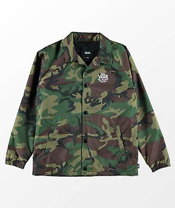 Vans Boys Torrey Camo Coaches Jacket