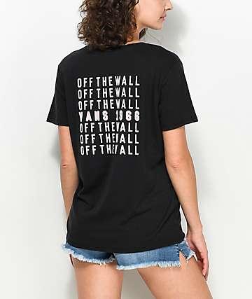 Vans Cells Bells camiseta negra boyfriend