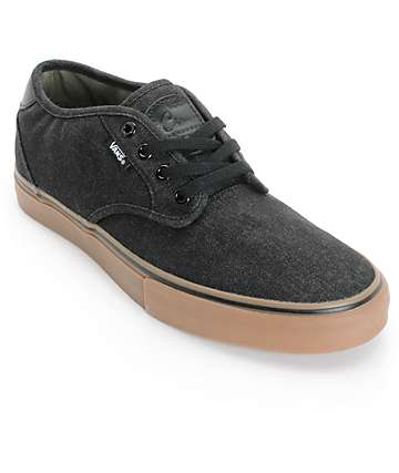 Vans Chima Pro Estate Denim Skate Shoes (Mens)