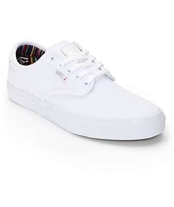 Vans Chima Pro Guate White Skate Shoes (Mens)
