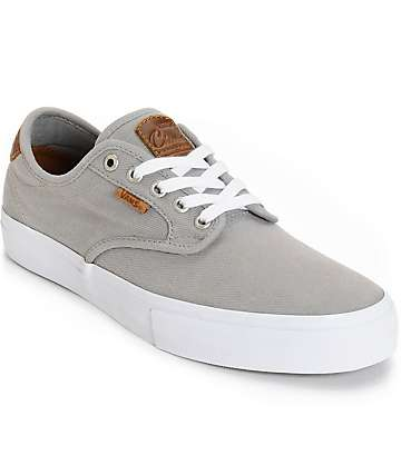 Vans Chima Pro Saddle Grey Skate Shoes (Mens)