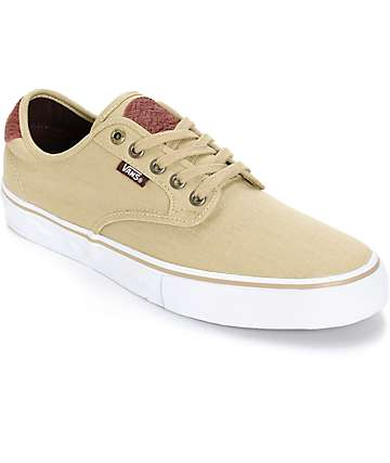 Vans Chima Pro Tooled Leather Skate Shoes (Mens)