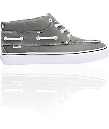 Vans Chukka Del Barco Pewter & White Skate Shoes (Mens)