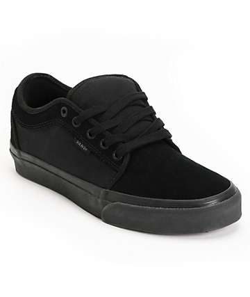 Vans Chukka Low All Black Skate Shoes (Mens)