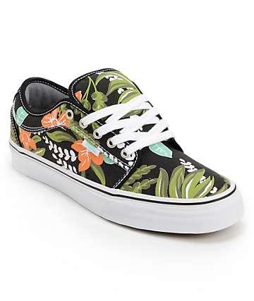 Vans Chukka Low Aloha Black & Mint Canvas Skate Shoes (Mens)